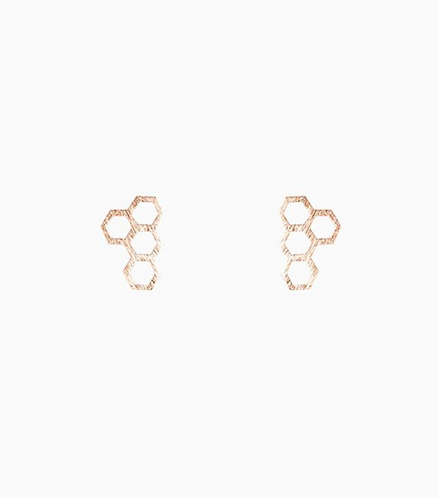 Need Supply Honeycomb Earring in Rose Gold