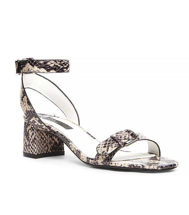 Dorothy Perkins Cream Strap Block Sandals