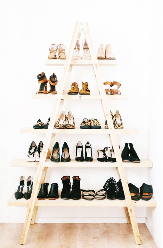 Artfully arranged shoes make for lovely decorations and free up tons of room in your closet for things that are best kept stowed away. So much inspiration here and here.