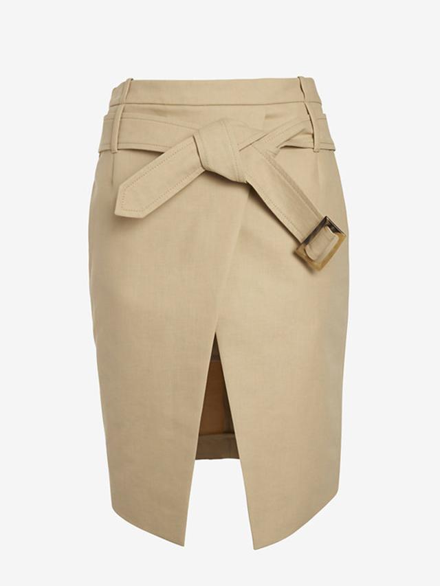 Barbara Bui Belted Asymmetric Mini Wrap Skirt