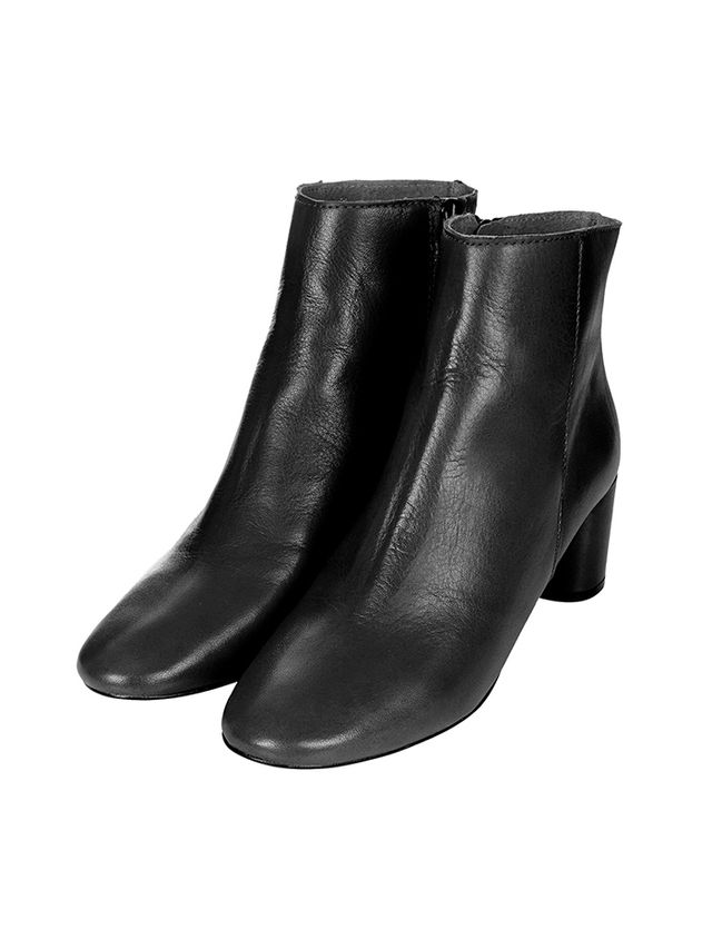Topshop Aggy Low-Heel Ankle Boots