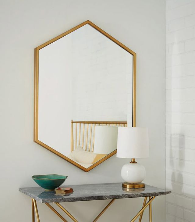 West Elm Metal Hexagon Framed Mirror