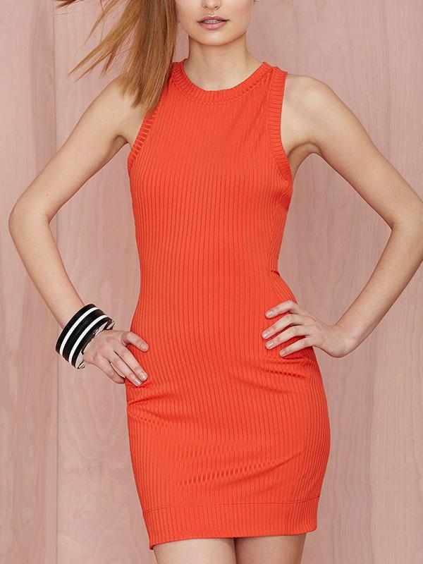 Nasty Gal Brickell Ribbed Dress