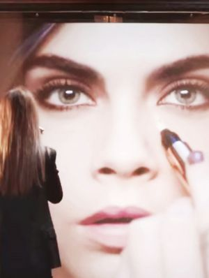 Cara Delevingne Shows Off Her Drumming Skills for YSL Beauté