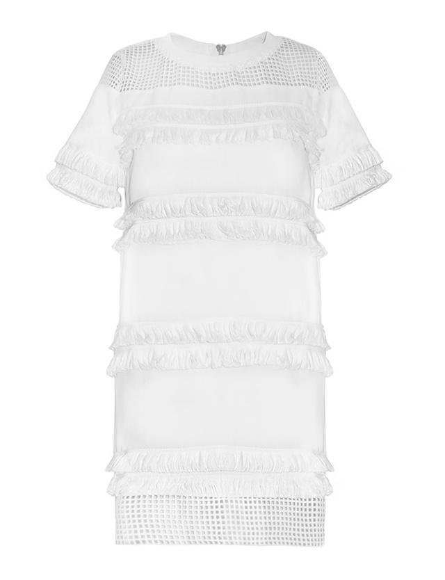 Pixie Market Roxy White Fringe Dress