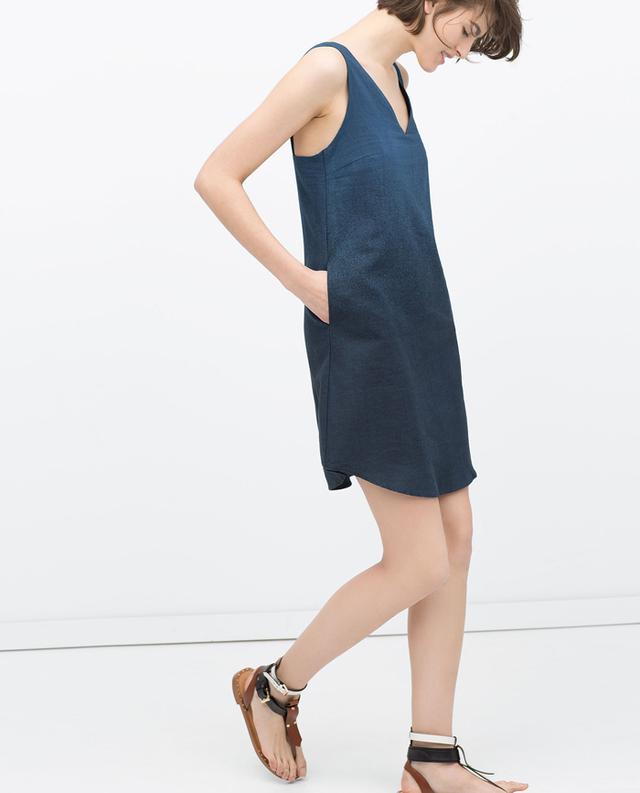 Zara Ombre Indigo Dress