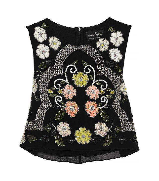 Needle & Thread Locket Embellished Chiffon Top