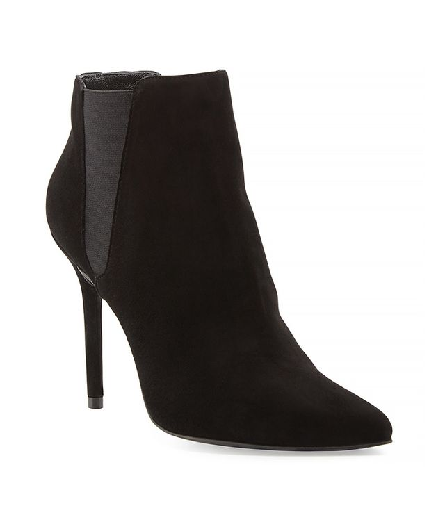 Stuart Weitzman Apogee Suede Point-Toe Ankle Boots