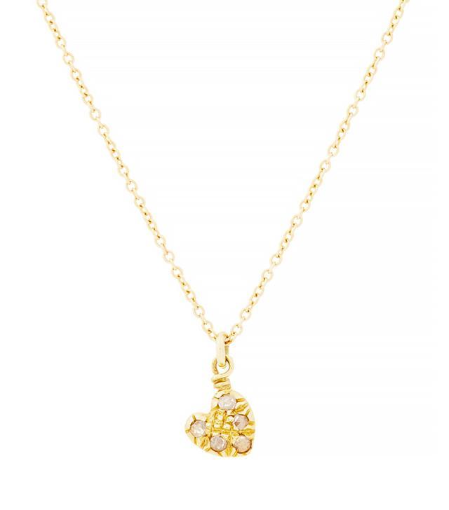 Fabrizio Riva Brown Diamond & Gold Heart Pendant Necklace