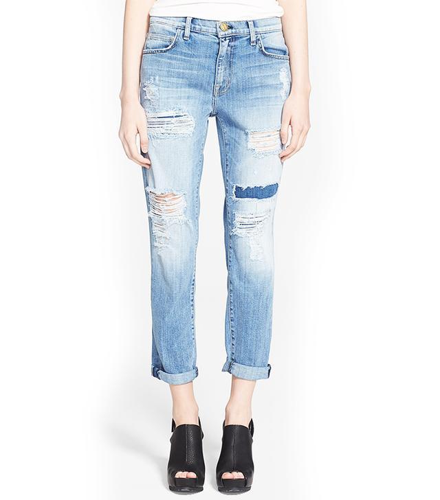 Current/Elliott The Fling Destroyed Rolled Jeans