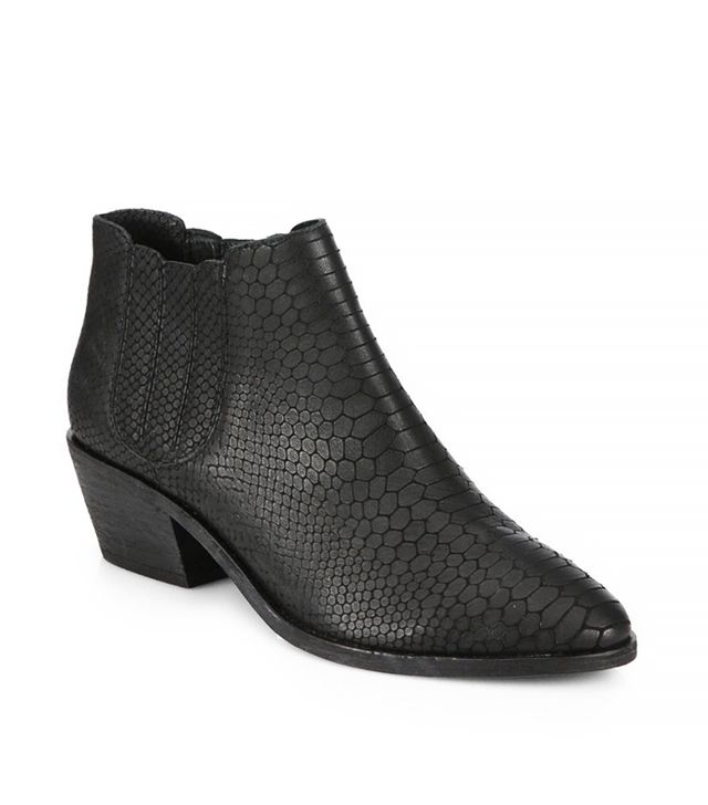 Joie Barlow Snake Embossed-Leather Ankle Boots