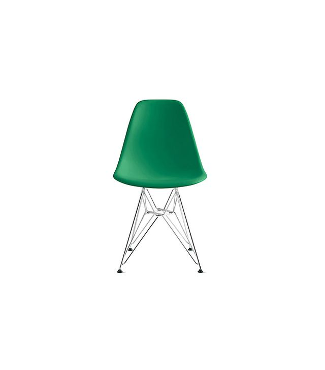 Eames Moulded Plastic Wire-Base Side Chair