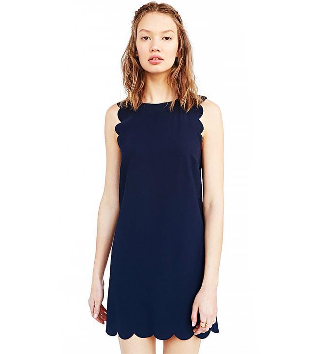 Cooperative Scallop Shift Dress