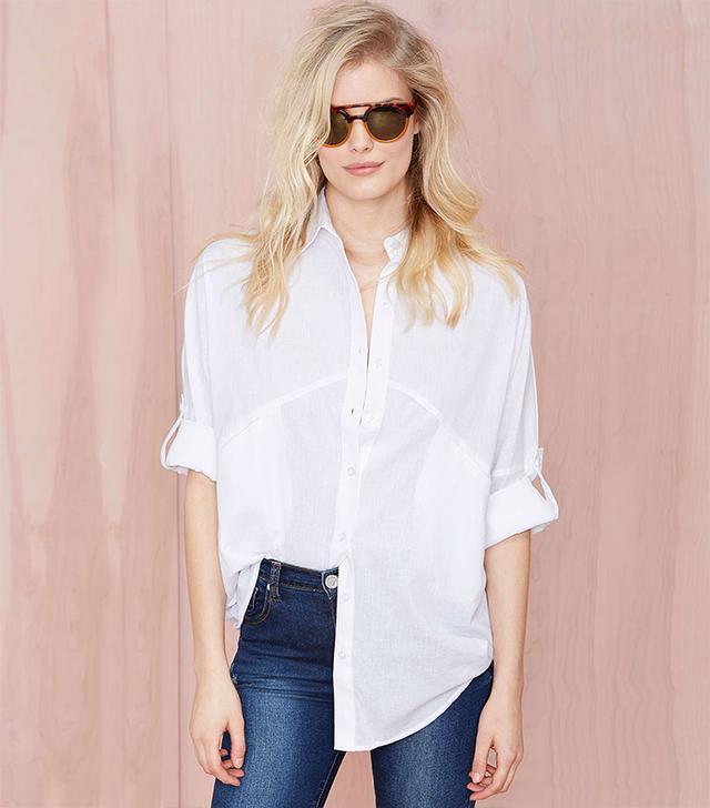 Nasty Gal Melanie Button Up Shirt