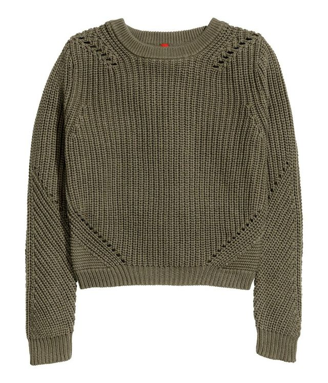H&M Pattern-Knit Sweater