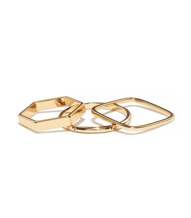 Bing Bang NYC Geometric Ring Set