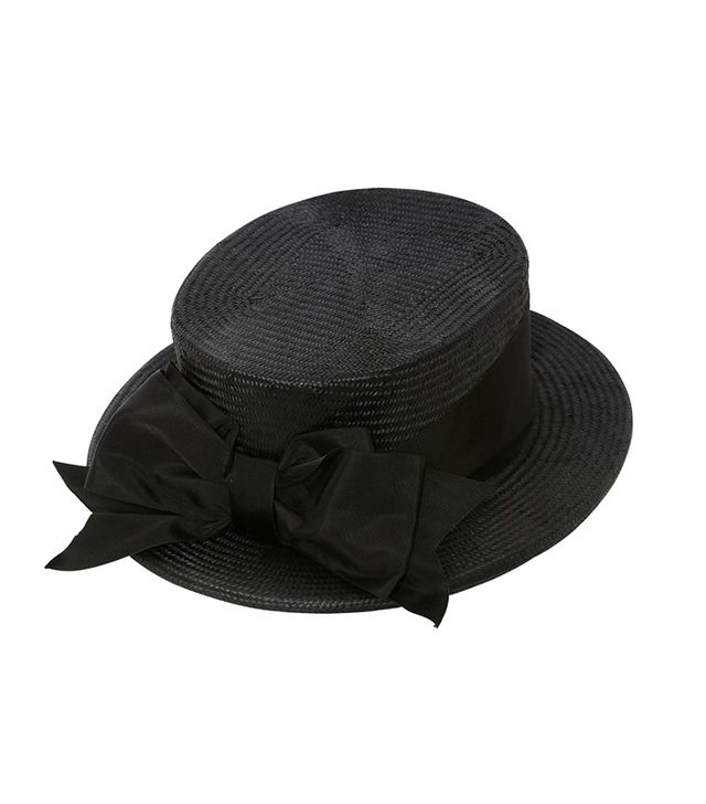 Patrizia Fabri Straw Boater Hat