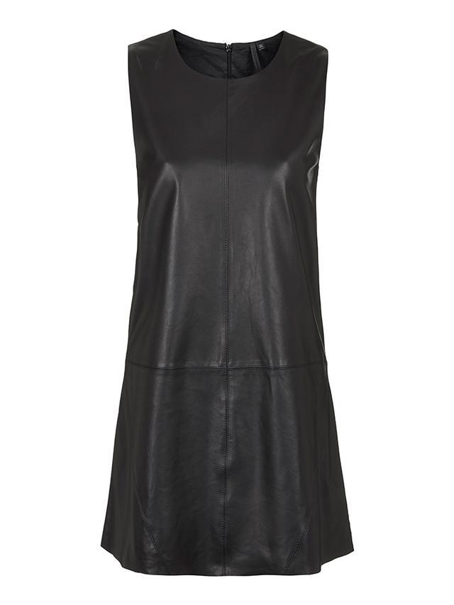 Topshop Leather Shift Dress