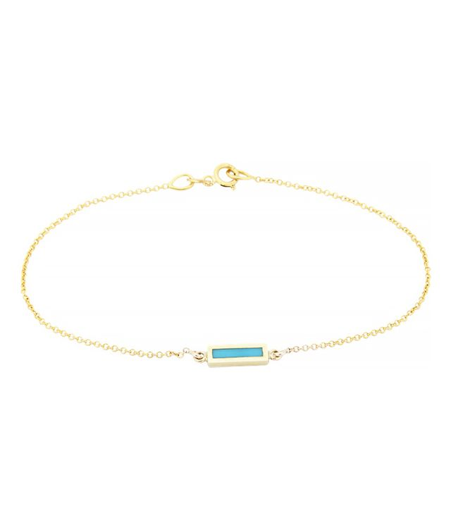 Jennifer Meyer Short Bar Charm Bracelet