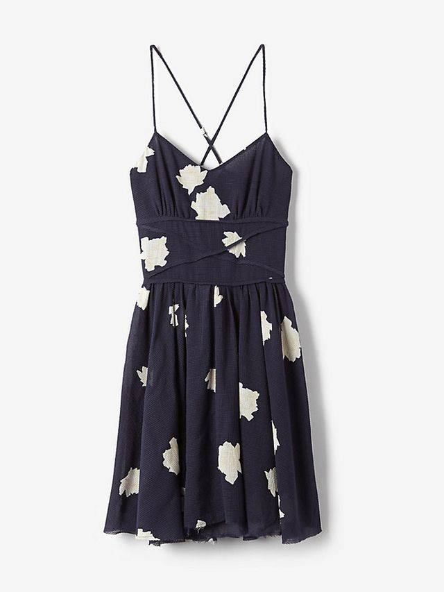 Band of Outsiders Slip Dress With Criss Cross Waist