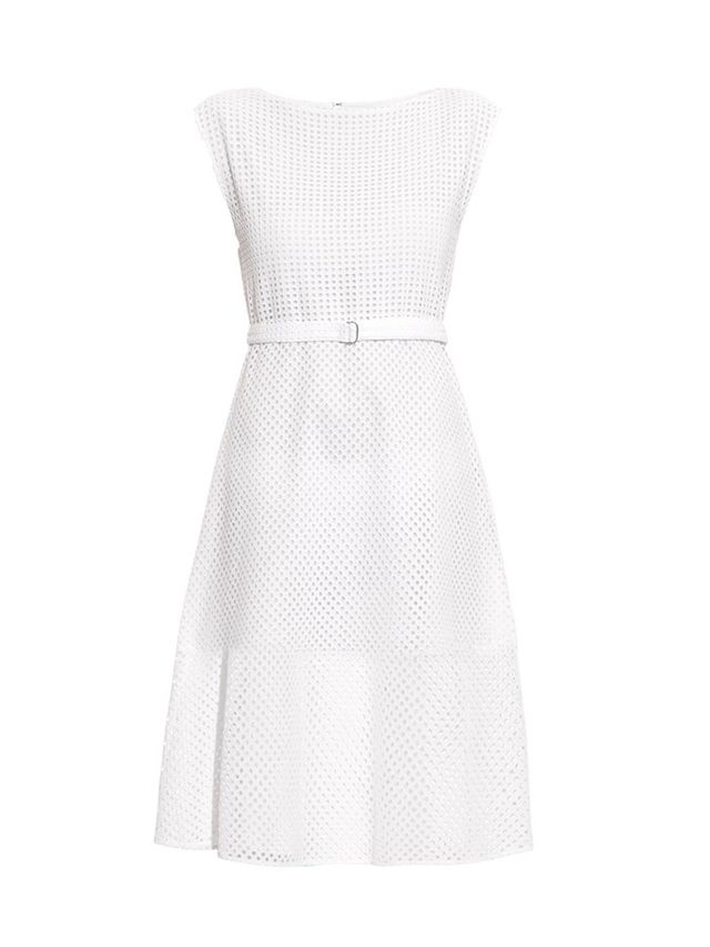 Theory Afala Broderie-Anglaise A-Line Dress