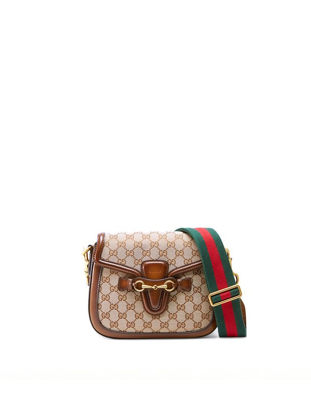 Gucci Lady Web Original GG Canvas Shoulder Bag