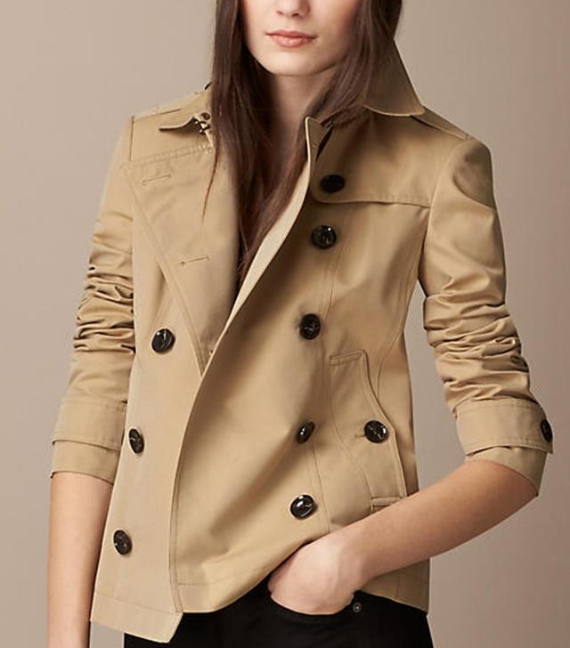 Burberry Cotton Poplin Trench Jacket