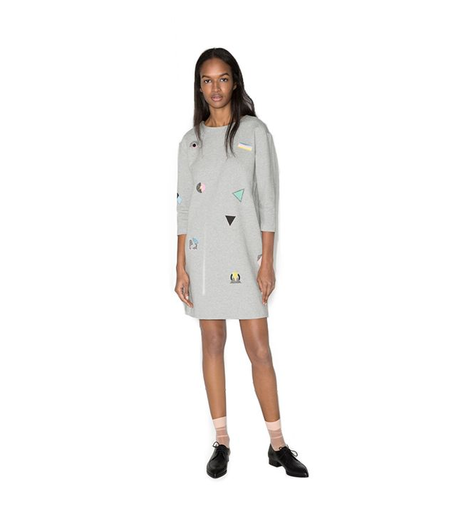 & Other Stories Embroidered Sweatshirt Dress