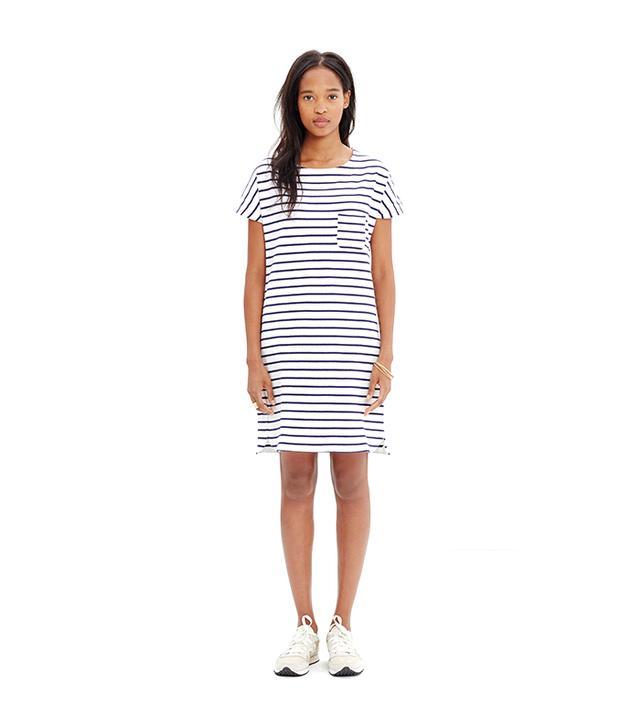 Madewell Striped Pocket T-Shirt Dress