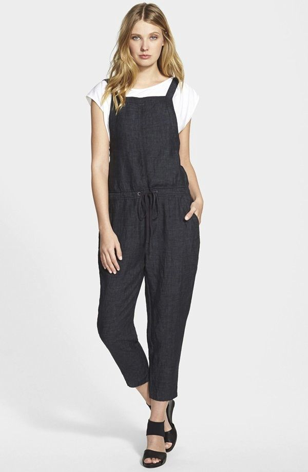 Eileen Fisher The Fisher Project Delave Linen Overalls