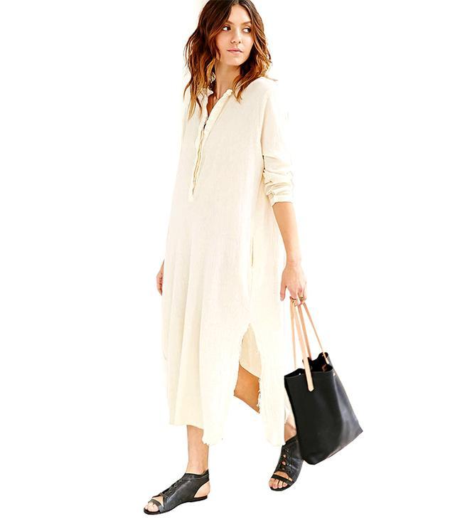 Urban Renewal,Zara Recycled Mandarin Collar Maxi Dress