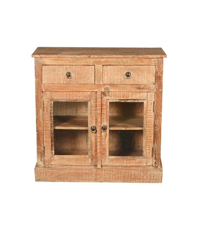 Sierra Living Concepts Mango Wood Textured Display Cabinet
