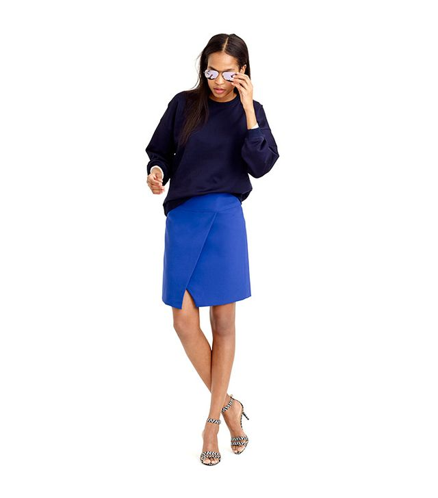 J. Crew Crossover Wrap Skirt