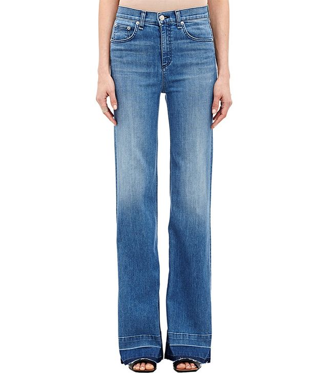 Rag & Bone Justine Wide-Leg Jeans in Medium Blue
