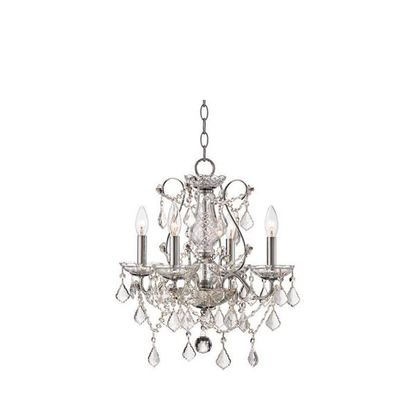 Lamps Plus Vienna Full Spectrum Chrome and Crystal Chandelier