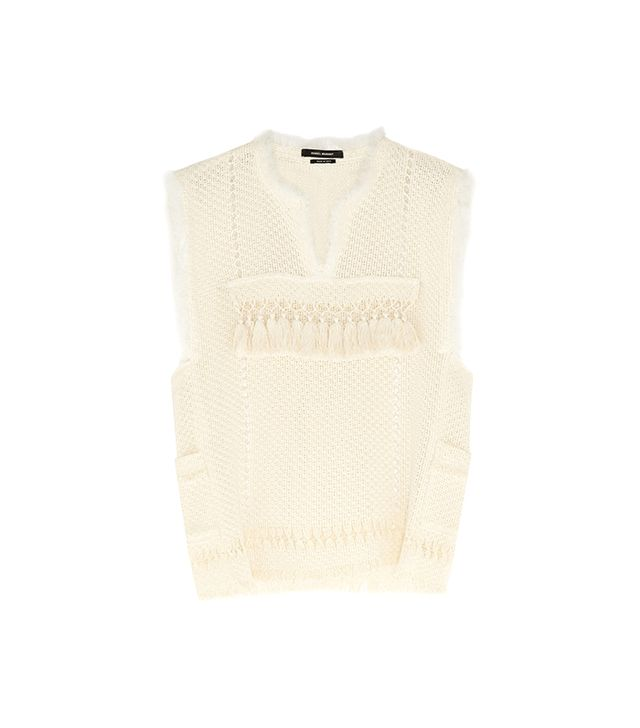 Isabel Marant Tacey Crocheted Cooton-Blend Top