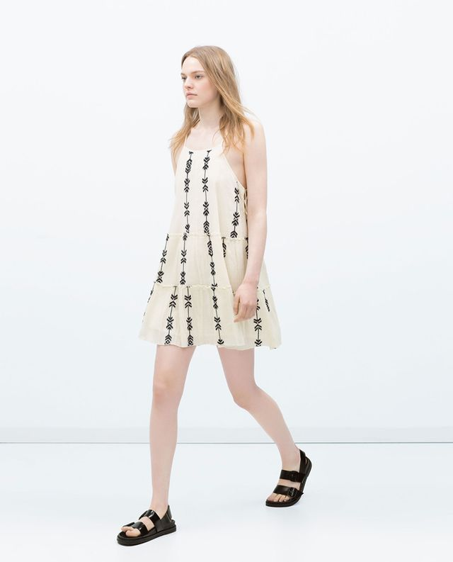 Zara Embroidered Dress