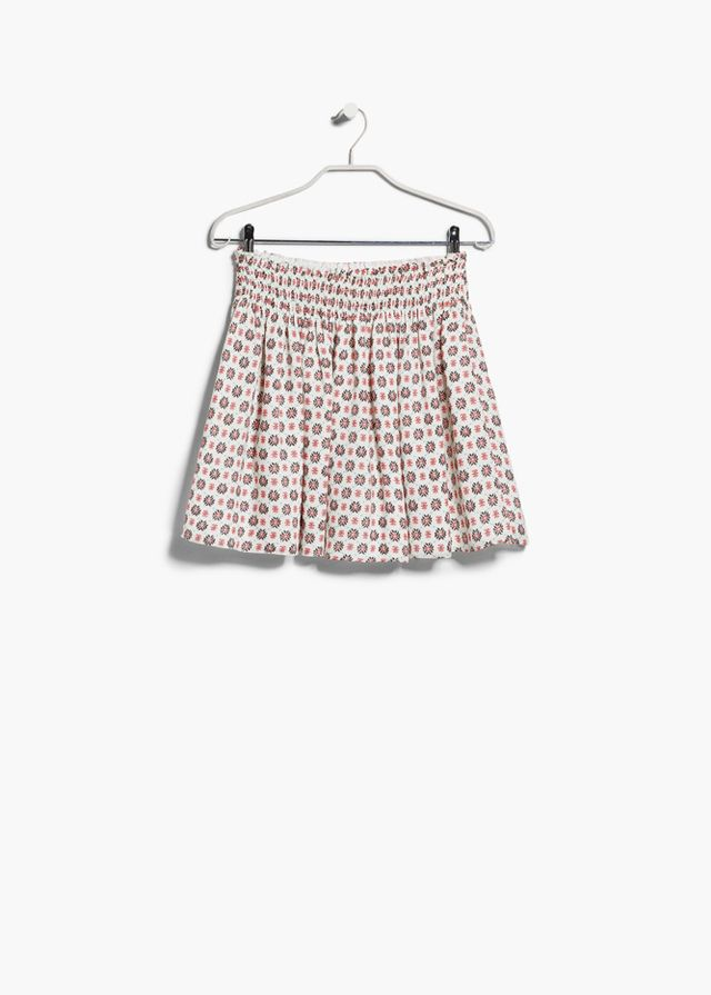 Mango Printed Flared Skirt