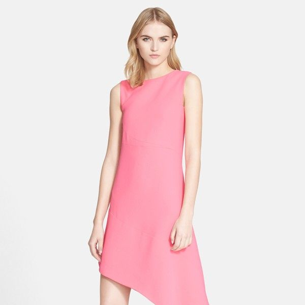 Narciso Rodriguez Asymmetrical Crepe Sheath Dress