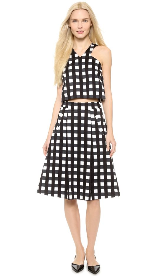 Marissa Webb Ella Check Skirt