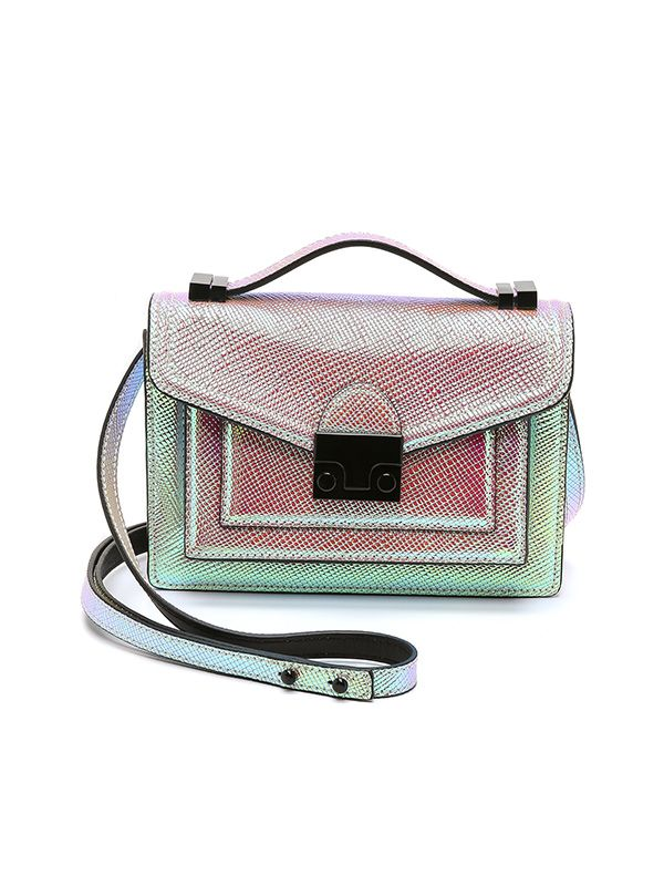 Loeffler Randall Iridescent Mini Rider Bag