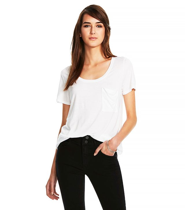 Mossimo Crew Neck MicroModal Tee with Pocket