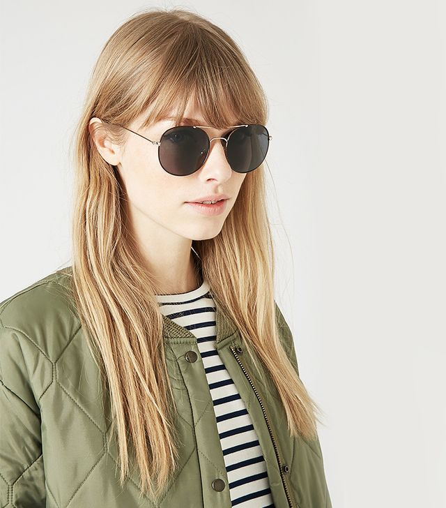 Topshop Macabee Metal Round Sunglasses