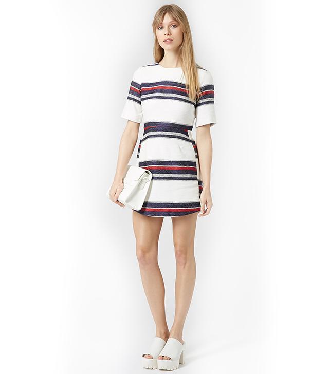 Topshop Nautical Stripe Shift Dress