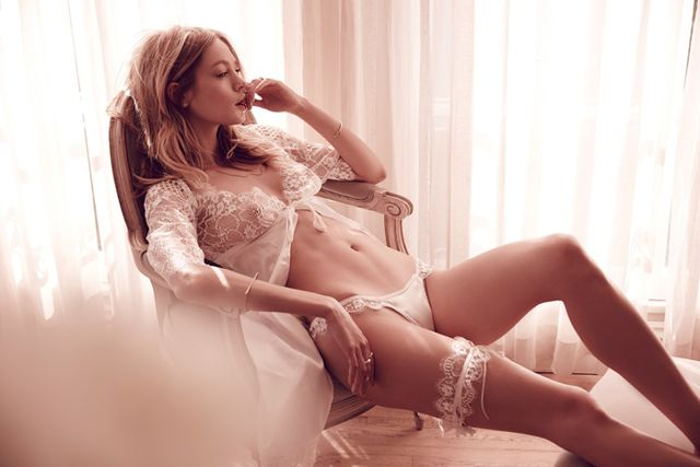 For Love & Lemons Yours Truly Lace Robe