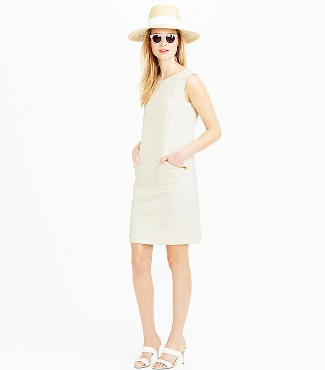 J.Crew Jacquard Zip-Pocket Shift Dress