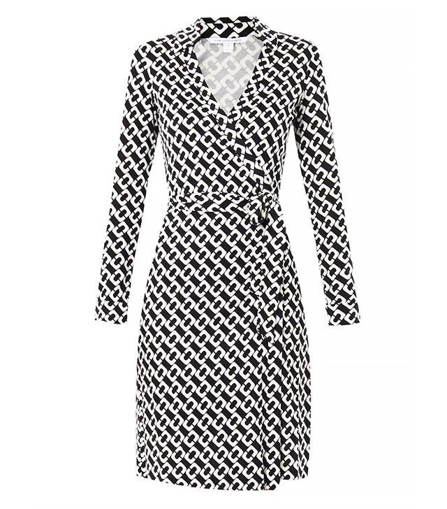 Diane Von Furstenberg Jeanne Silk Jersey Wrap Dress