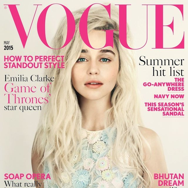 Game Of Throne's Emilia Clarke Stars On The Cover Of Vogue UK