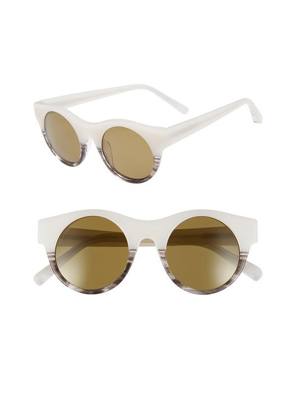 Elizabeth and James Olive 47mm Polarized Round Sunglasses