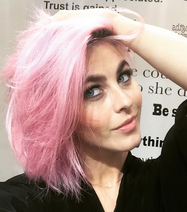 Julianne Hough Dyed Her Hair Pink, And We're in Love